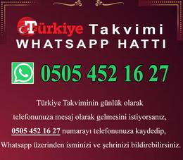 Türkiye Takvimi Whatsapp Hattı